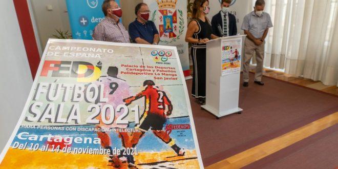 Cartagena será sede del Campeonato de España de Fútbol sala para personas con discapacidad intelectual